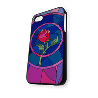 Beauty and Beast rose glass Custom JDC089 iPhone 4/4S Case