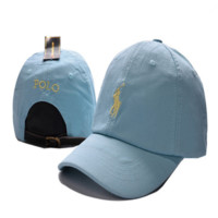 Sky Blue Polo Embroidered Unisex Adjustable Cotton Sports Cap Hat