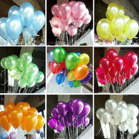"""HOT 100pcs pack 10inch1.2g Latex balloons Helium Thickening Pearl balloons Wedding Party Birthday child toys gifts 10"""" Globos"""