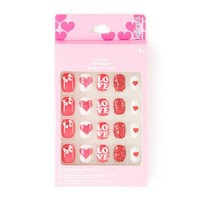 Valentine's Day Sparkle and Shine Faux Nail Set | Claire's