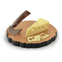 I Can Not Tell A Lie, I Love Cheese Cheese Log Board + Knife Set