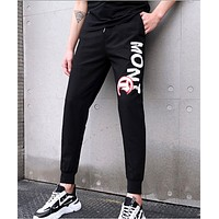 Explosion style pants men's tide brand overalls loose trend trend men's wild letter beam pants sports casual pants