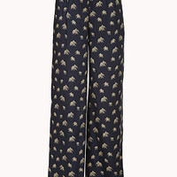 Elephant Parade Wide-Leg Pants