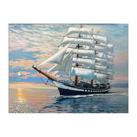 Picture On Wall Acrylic Ships Plain Sailing oil Painting Drawing By Numbers Abstract Gift DIY Amazing Coloring By Numbers Canvas