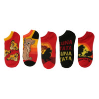 Disney The Lion King No-Show Socks 5 Pair