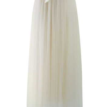 Amore Maxi Tulle Prom Skirt in Beige Beige