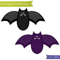 75% OFF Bats Clipart  Mini Set. Two Bats (With Very Sharp Teeth!) Digital Clipart Set for Instant Download. Personal and Commercial* Use.