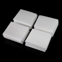 400Pcs Nail Art Wipes Polish Acrylic Gel Tips Remover (Size: 55mm by 35mm, Color: White)