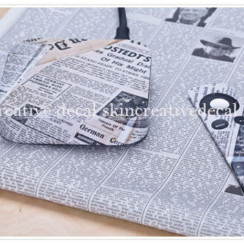 Apple TV cover Decals skin stickers - news paper