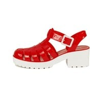 Women's Strawberry-01 Low Heel Jelly Sandal