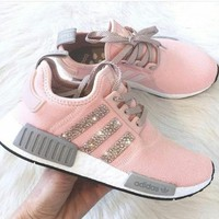PEAP2 Adidas Nmd Fashion Glittering Breathable Running Sports Shoes Sneakers