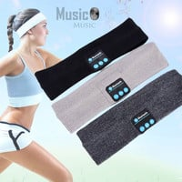 Unisex Warm Headband Wireless Bluetooth Smart Caps Headphone Headset Speaker Mic A57