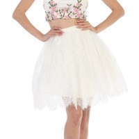 Prom Short Two Piece Set Dresses Cocktail Party Homecoming
