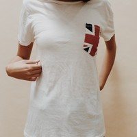 IEVA BRITISH FLAG POCKET TEE