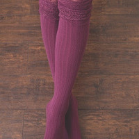 WB Tall Lace Sock