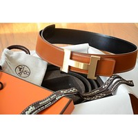 2016 Classic 42mm Hermès belt kit GOLD BROWN BLACK GOLD Brushed Buckle Herme 95