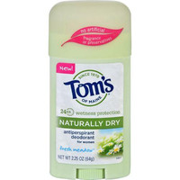 Toms of Maine Deodorant  Naturally Dry  Stick  Fresh Meadow  2.25 oz  Case of 6
