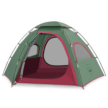 KAZOO Outdoor Camping Tent Family Durable Waterproof Camping Tents Easy Setup Two Person Tent Sun Shade 2/3 Person Green