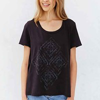 Truly Madly Deeply Wanderlust Scoop-Neck Tee - Washed Black