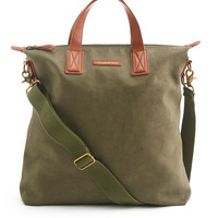 Shop Twill And Leather NS Carryall at vineyard vines