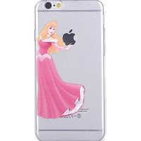 Disney Princess - Sleeping Beauty Holding Logo Clear Transparent Case For Apple Iphone 6/6s (4.7-Inch)