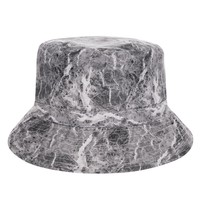 New Fashion Flat Bucket Hat Men Women 3D Printed Marble Bob Beach Fishing Hip Hop sombrero pescador Panama Girls
