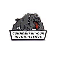 Confident Dog Pin