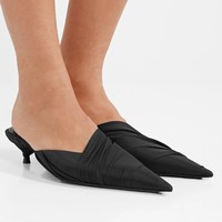 BALENCIAGA Knife stretch-tulle mules