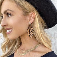 Leopard in Leather Earrings