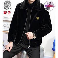 VERSACE Men's Waterproof Ski Jacket Warm Winter Snow Coat Mountain Windbreaker Hooded Raincoat Sweater Hoodies Jacket Coats