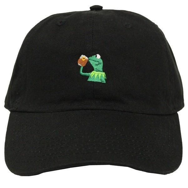 """Image of Sipping Tea """"Kermit the Frog"""" Dad Hat"""