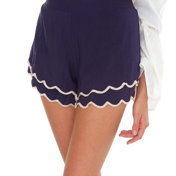 A Little Late Shorts - Navy