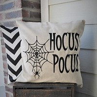 Hocus Pocus Spider Web Pillow Cover