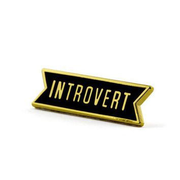 """Introvert"" Pin"
