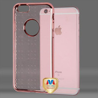 Apple iPhone 6 6S Plus 5.5 Rose Gold SPOTS Electroplated Case Cover Rose Gold