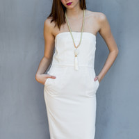 Sophisticated Bridal Dress in White