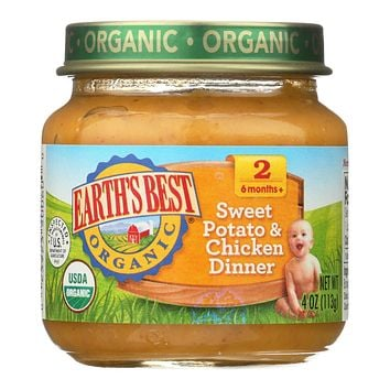 Earth's Best - Dinnrsweet Pot & Chick - Case Of 10-4 Oz