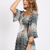 Wild Heart Printed Romper | Threadsence