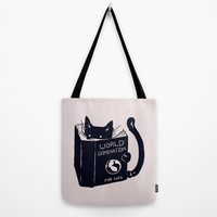 World Domination For Cats Tote Bag by Tobe Fonseca