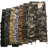 Man Camouflage autumn spring military pants for men fashion army city tactical trousers