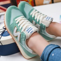 New balance Fashionable and comfortable leisure sports Women shoes Green