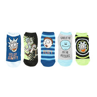 Rick And Morty Schwifty No-Show Socks 5 Pair