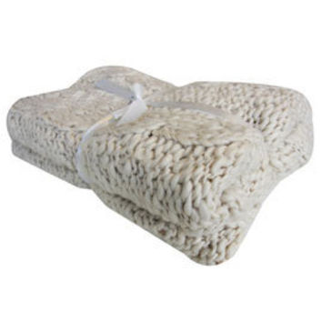 Buy Padstow Chunky Knit Blanket Online   Blankets and Throws   Dunelm Mill