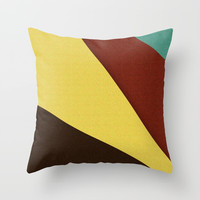 Retro Earth Tones Throw Pillow by Simply Chic