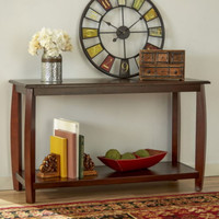 Traditional Console Table With Shelf Dining Room Furniture Espresso Finish New