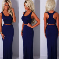 CUTE VEST LONG   DRESS