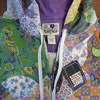 Lucky Brand Patchwork Hoodie NWT Size M Womens Boho Hippie Gypsy Floral Jacket