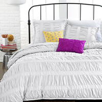 Ruched Stripes 3 Piece Comforter and Duvet Cover Sets - Back To School - Bed & Bath - Macy's