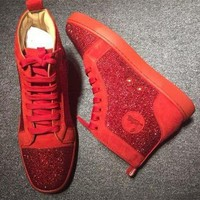 DCCK2 Cl Christian Louboutin Rhinestone Style #2105 Sneakers Fashion Shoes