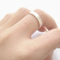 Stamped inside script ring,my love,heart sign ring,brushed,rose gold ring,wedding,gift idea,gift for her,gift wrapping,valentine day,AGR88